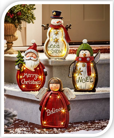 Lighted Holiday Statues