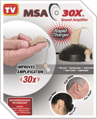 MSA 30X Discreet Sound Amplifier