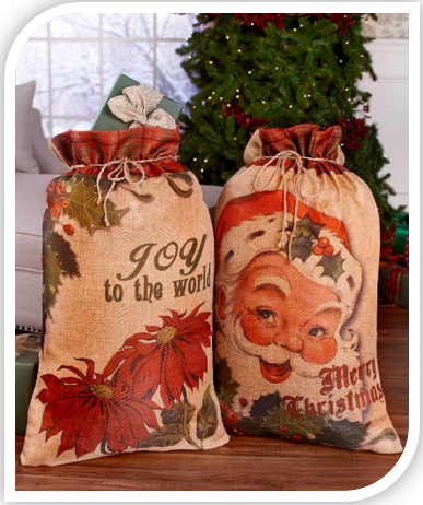 Set of 2 Oversized Gift Sacks