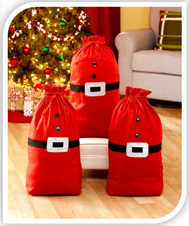 Set of 3 Santa Sacks
