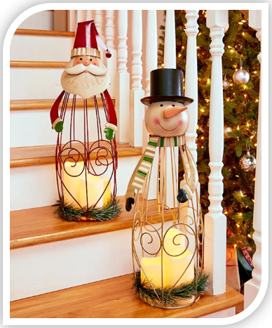 Triple LED Candle Holiday Lanterns