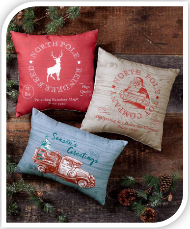 Vintage Inspired Holiday Pillows