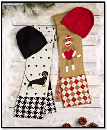 Women's Knit Critter Scarf and Hat Sets