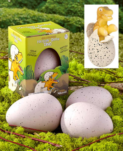 Set of 2 Ginormous Hatchin Grow Dino Eggs
