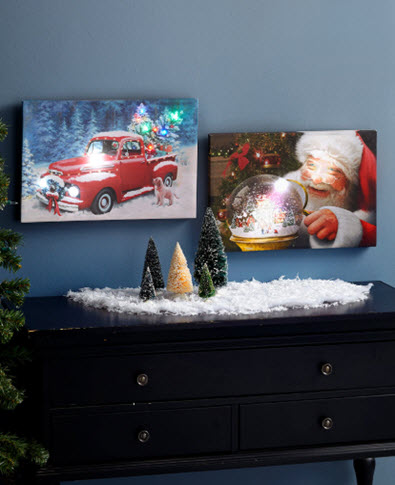 Light and Sound Christmas Canvas Wall Art