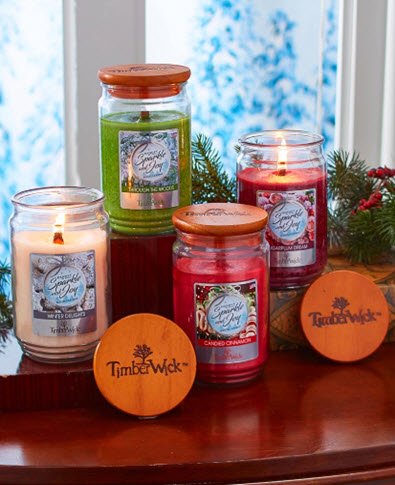 18 Ounce Timberwick Holiday Jar Candles