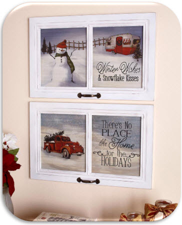 23 Inch Winter Wall Hangings
