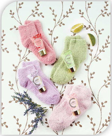 Cozy Sock and Lotion Gift Boxed Sets