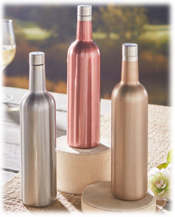 Vacuum Insulated Stainless Steel Wine Bottles