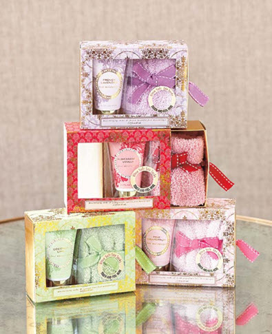 Cozy Sock and Lotion Gift-Boxed Sets