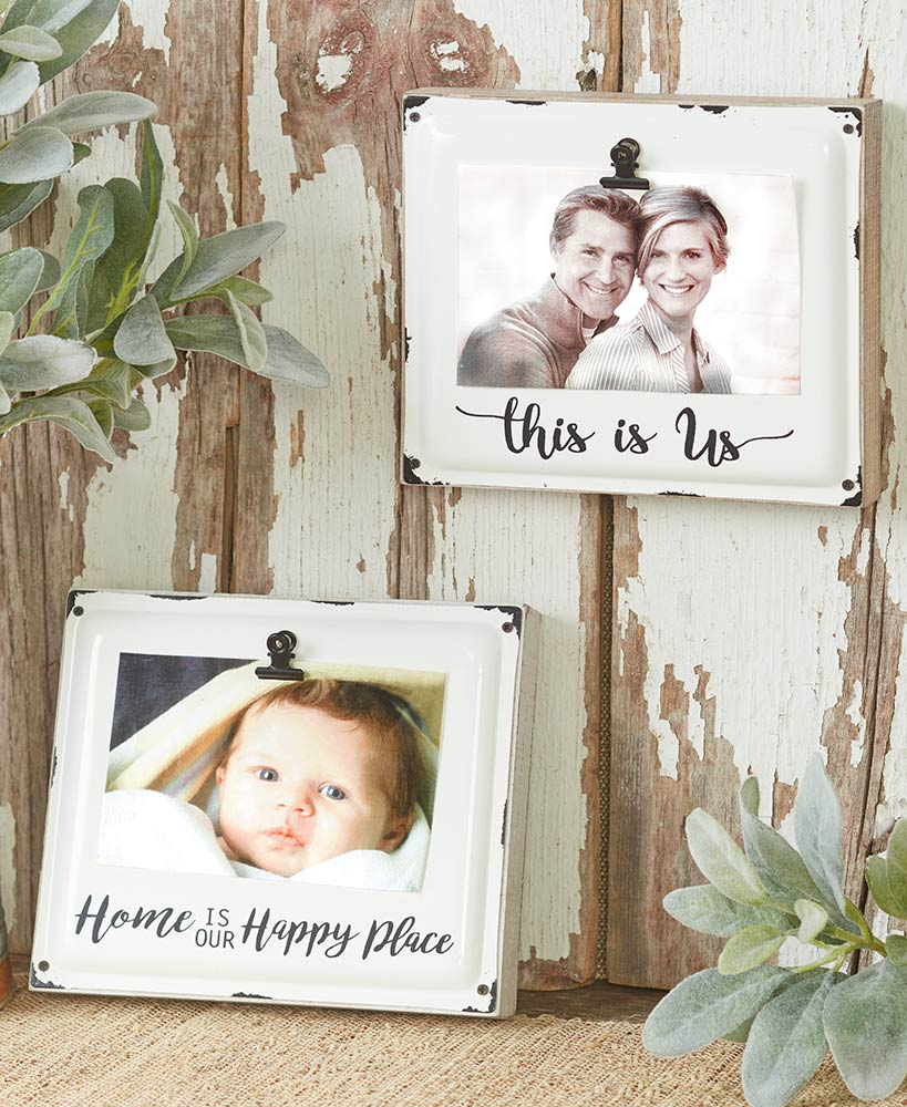 Rustic Farmhouse Decor White Wood Picture Frames
