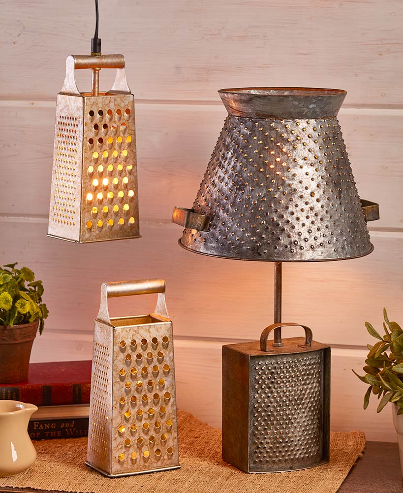Rustic Farmhouse Decor Grated Lampshades