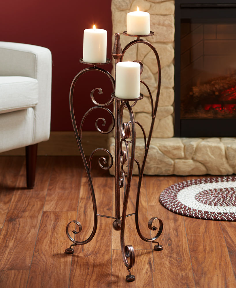 Rustic Decor Elegant Modern Standing Candle Holder