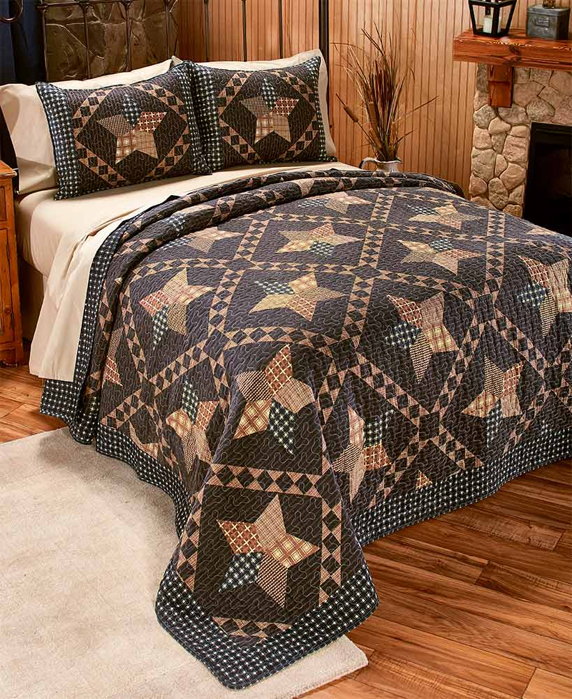 Rustic Decor Country Patchwork Star Bedding