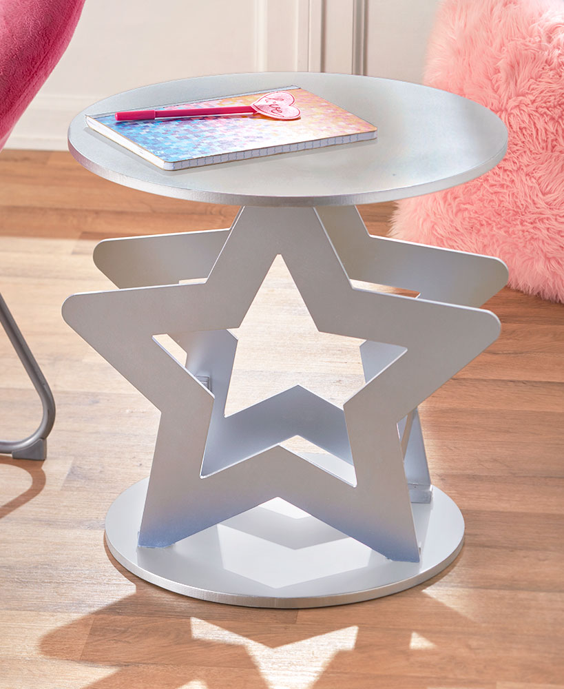 Star Icon Metal Accent Table