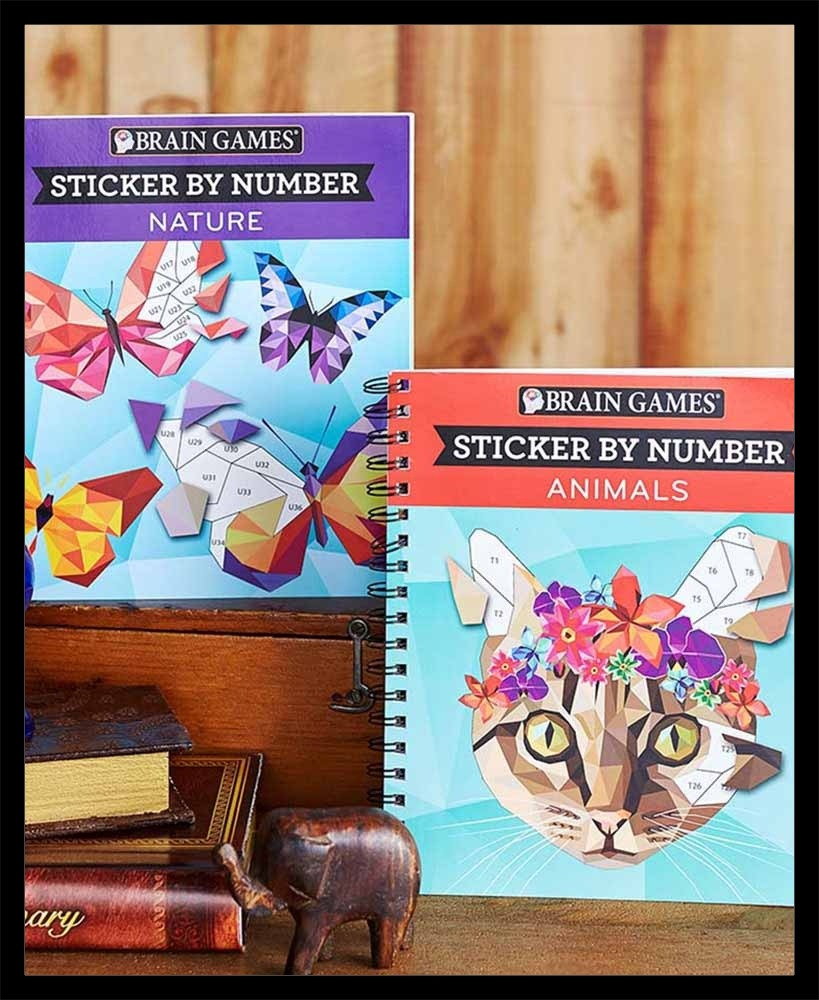 Sticker By Number Cat And Butterfly Book