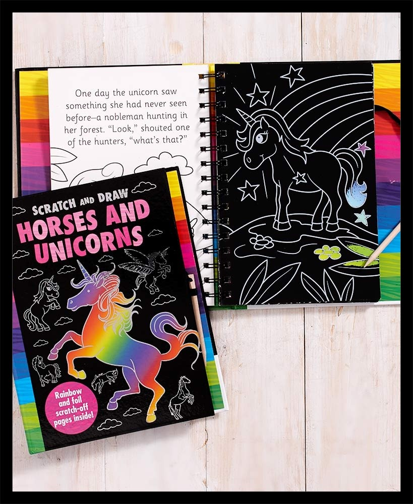 Horses and unicorns coloring book