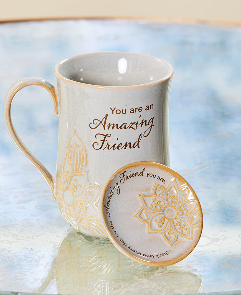 Amazing Friend Mug And Trinket Dish