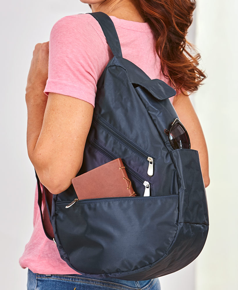 RFID Sling Backpack Purse