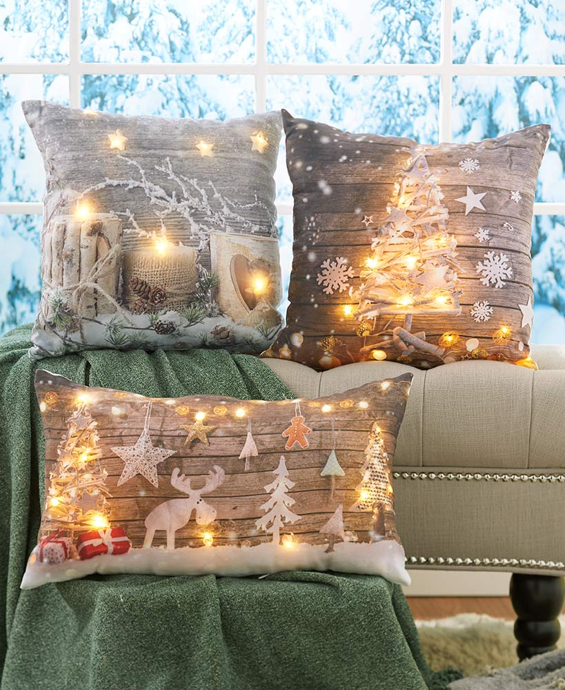 Lighted Christmas Pillows
