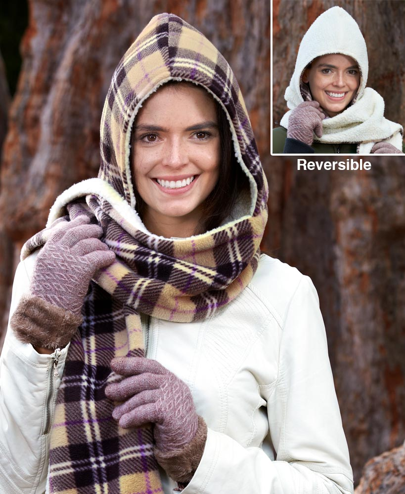 Reversible Hooded Scarf