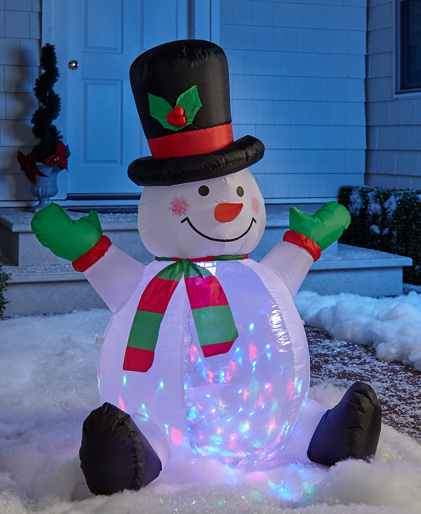 Lighted Inflatable Snowman