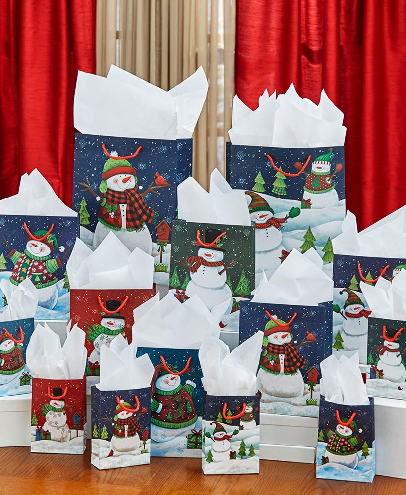 Snowman Holiday Gift Bags