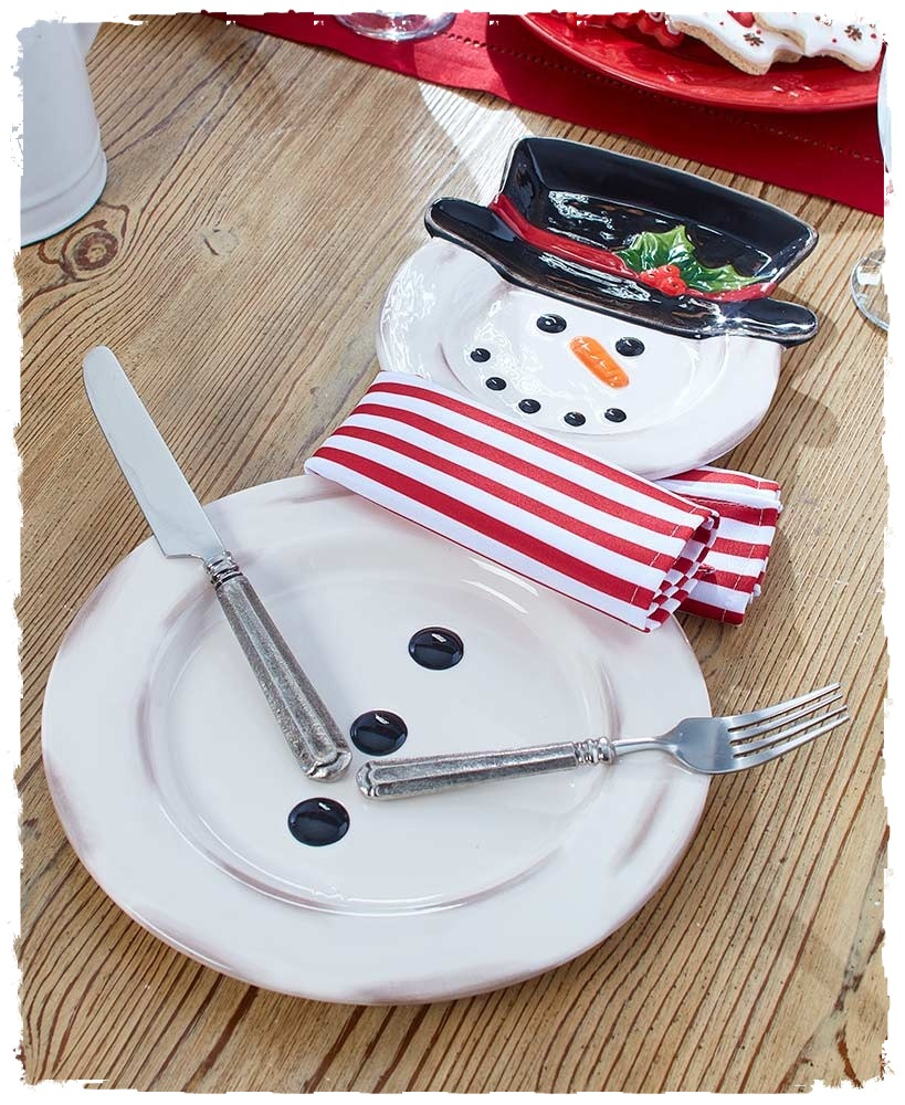 3 Piece Snowman Place Setting