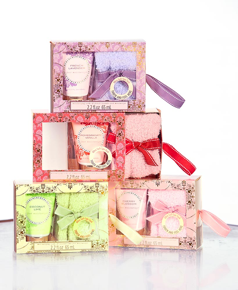 Cozy Sock and Lotion Gift Box