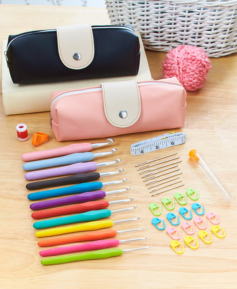 40 Piece Essential Crochet Set With Case