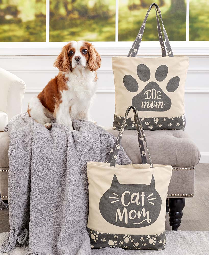 Dog Or Cat Mom Tote Bags