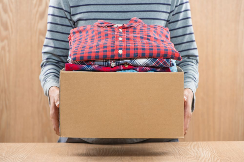 Garage Storage Tips - Box Of Clothes