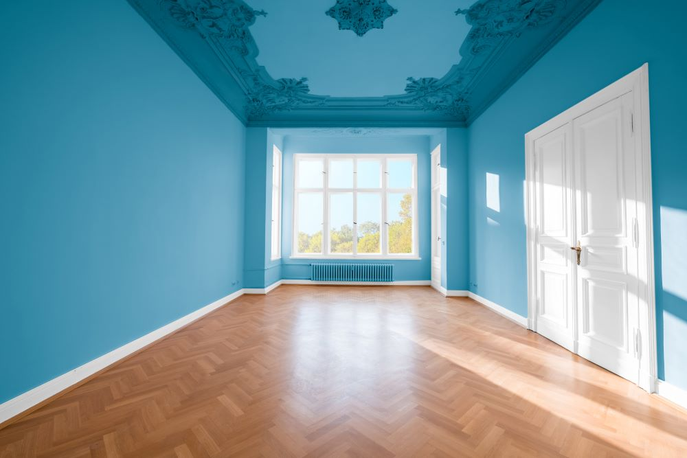 Fancy Blue Ceiling