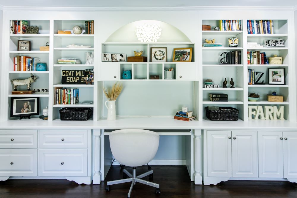 Organize Your Home Office - Home Office Desk Shelving Unit