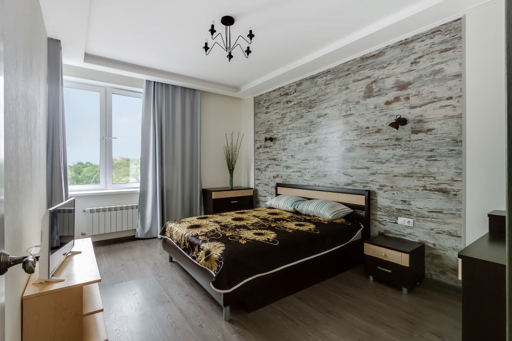 Marble Wall In Bedroom