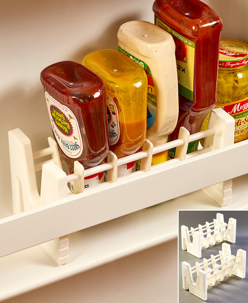 Kitchen Storage Ideas - Upsidedown Bottle Racks