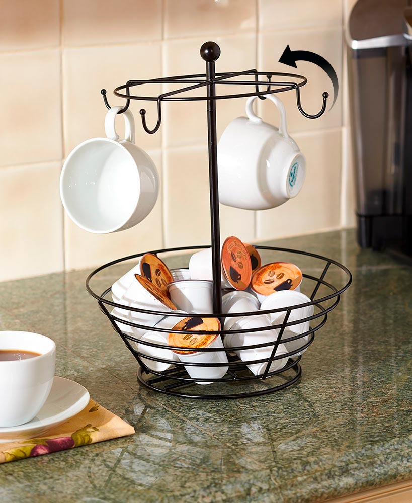 Kitchen Storage Ideas - Coffee Mug And Pod Carousel