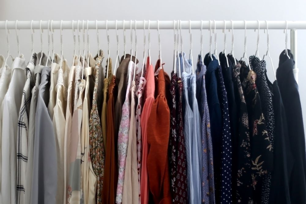 How To Organize Closet - Color Coded Clothes