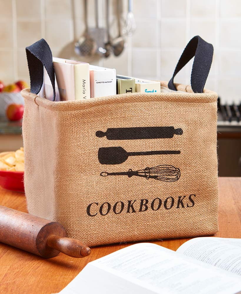 Kitchen Storage Ideas - Cookbook Storage Bin