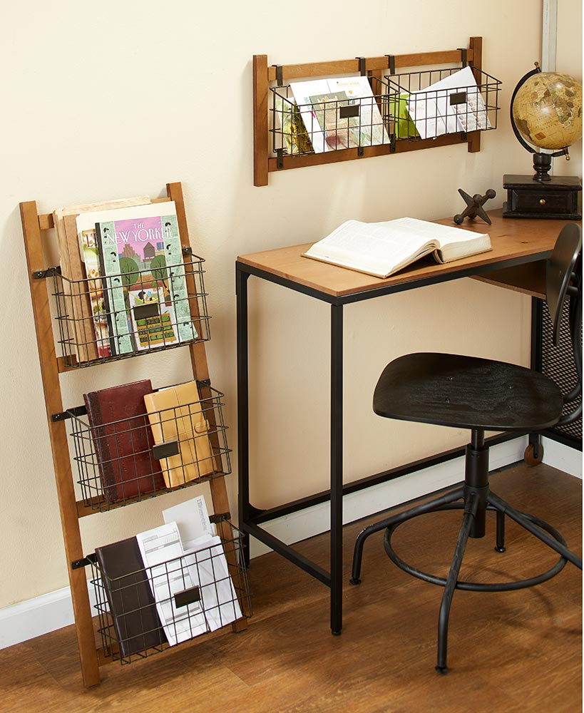 Farmhouse Industrial File Organizers