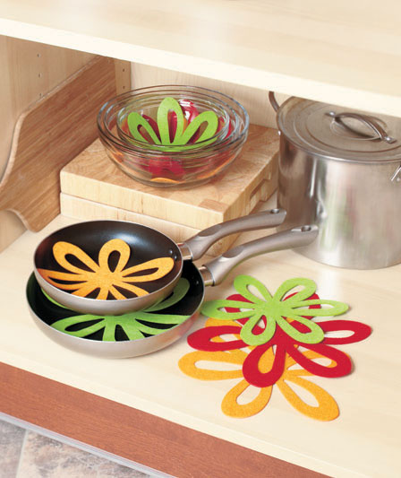 Kitchen Storage Ideas - Felt Pan Separators