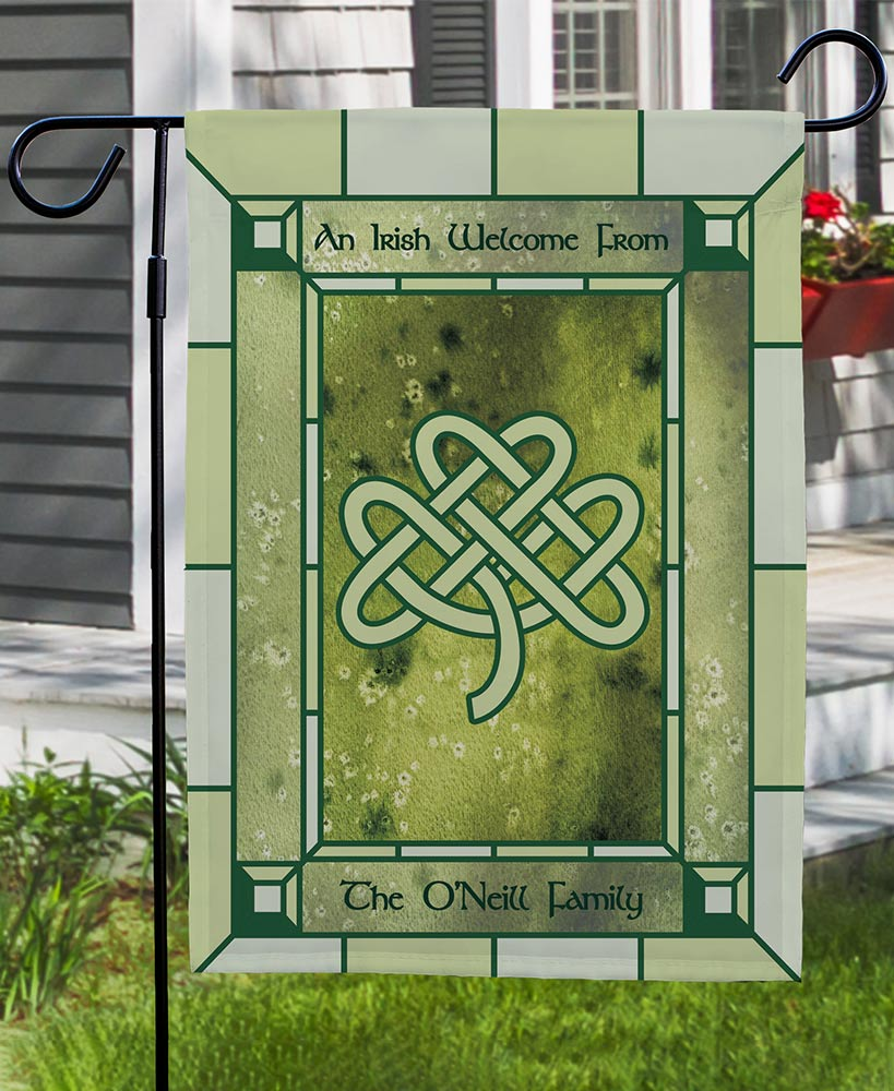 Personalized Irish Welcome Flag