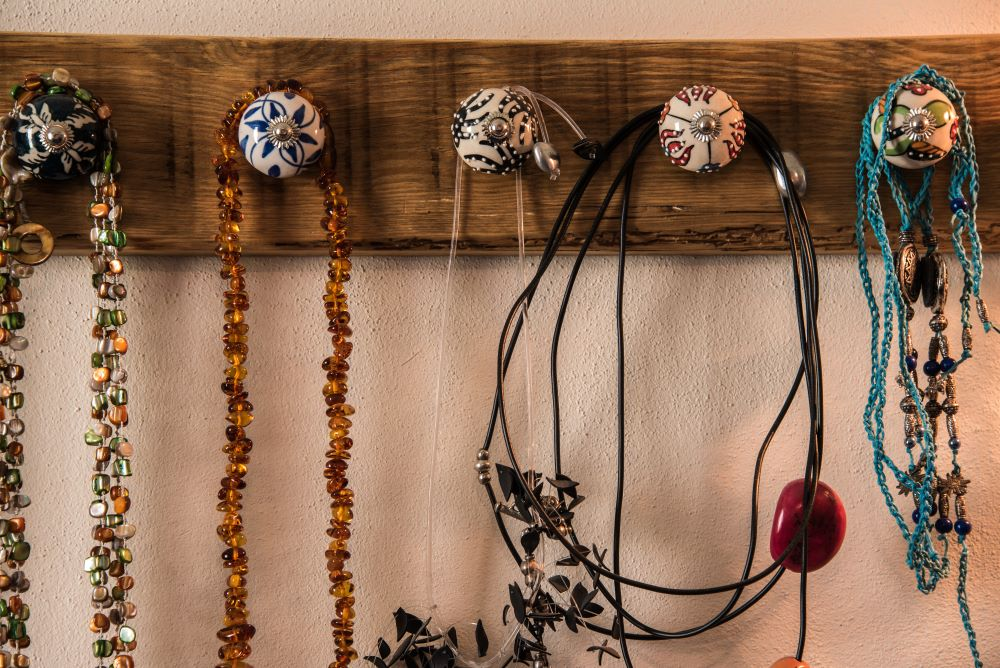 How To Organize Closet - Hanging Jewelry