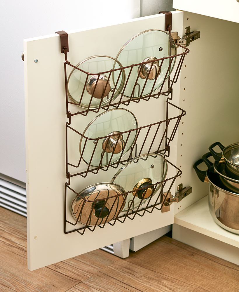 Kitchen Storage Ideas - Over The Cabinet Lid Rack