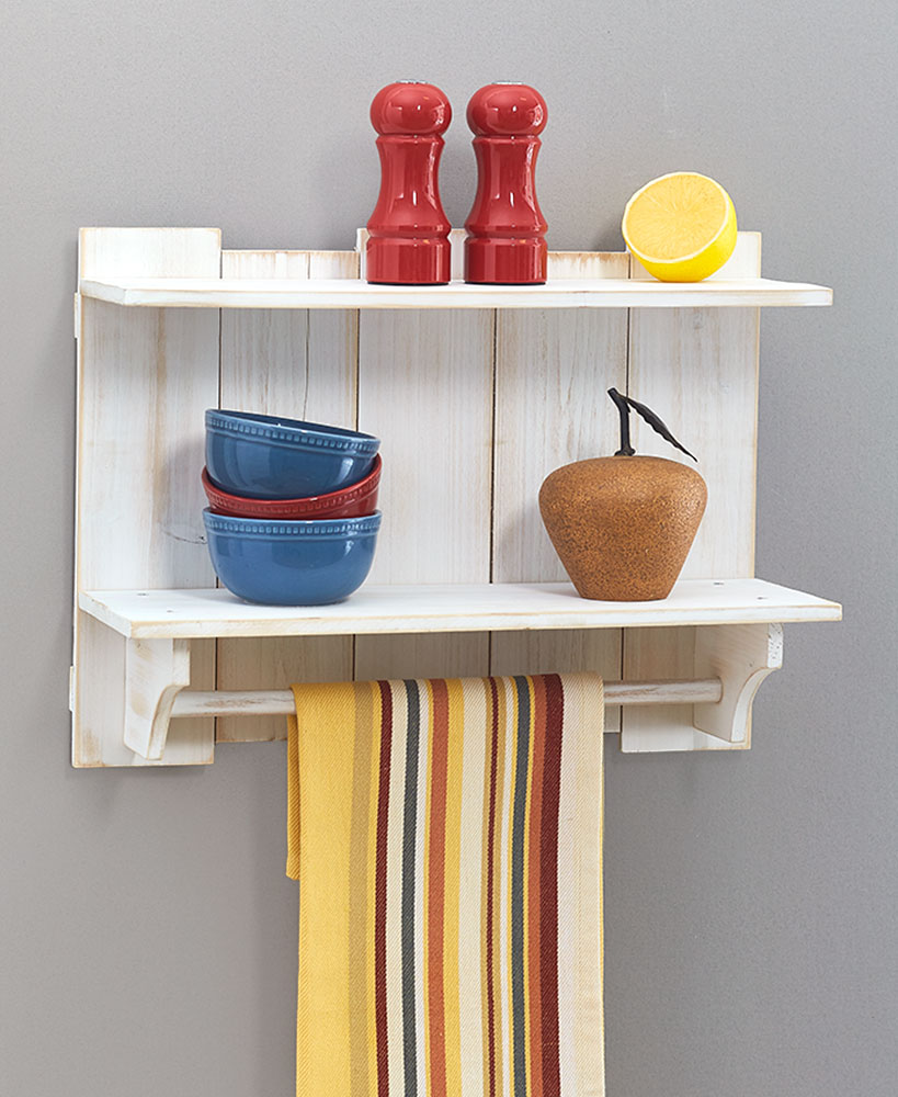 Kitchen Storage Ideas - Wood Pallet Wall Shelf