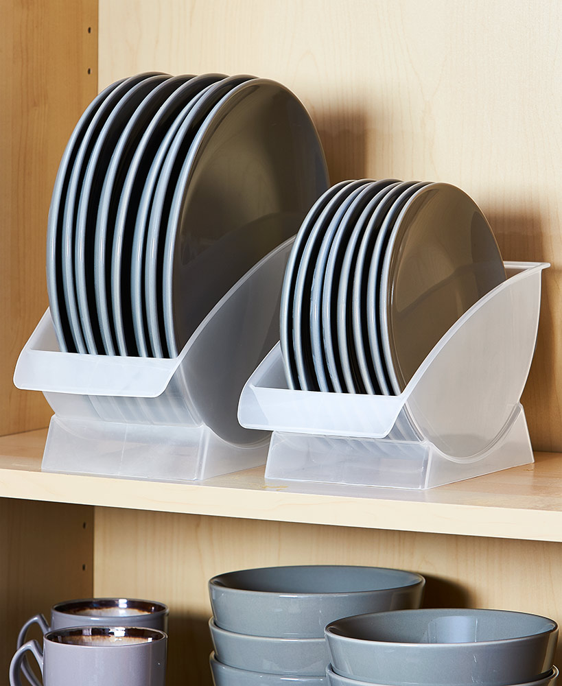 Kitchen Storage Ideas - Vertical Plate Racks