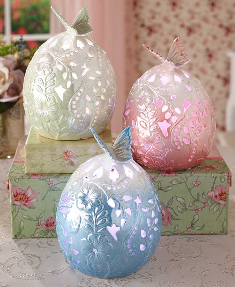 Porcelain LED Collectible Eggs
