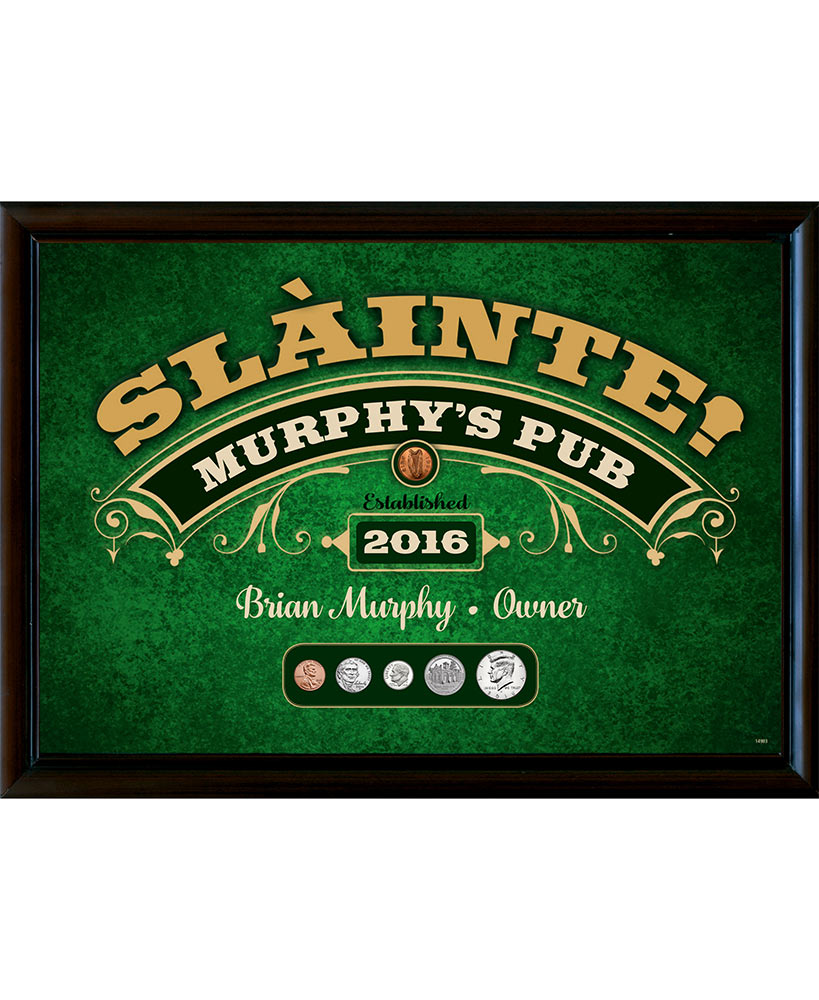 Year To Remember Personalized Irish Pub Sign