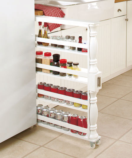 Kitchen Storage Ideas - Rolling Spice Rack