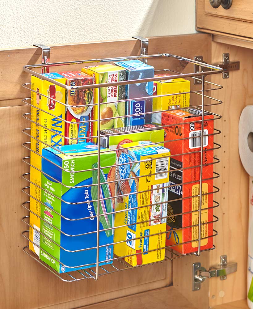 Kitchen Storage Ideas - Over The Cabinet Basket